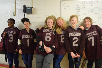 MSB girls' goalball team