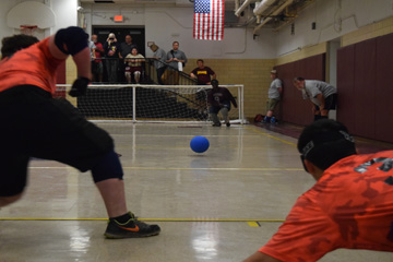 Goalball in play