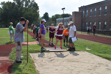 An MSB student participating in the Eberhardt Track Meet