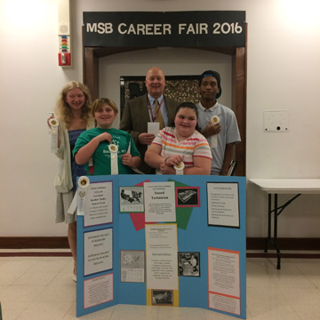MSB Career Fair 3rd place team