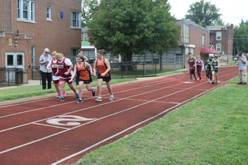 MSB students participating in the Eberhardt Track Meet