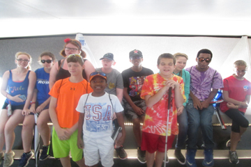 Accessible Travel students at the top of the Gateway Arch monument