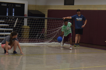 Camp Abilities students play goalball