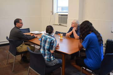 College and Career students speak with guest speaker Elton Thomas