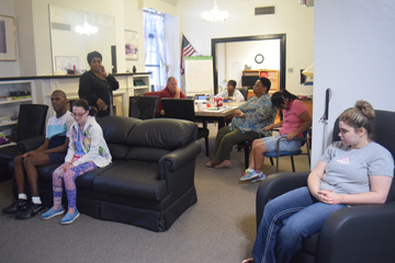 Independent Living students perform activities of daily living