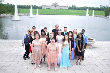 Prom atendees at Forest Park