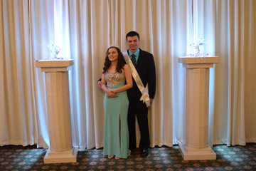 Prom 2017 King Collin  Clausner and Queen Nikki Cox
