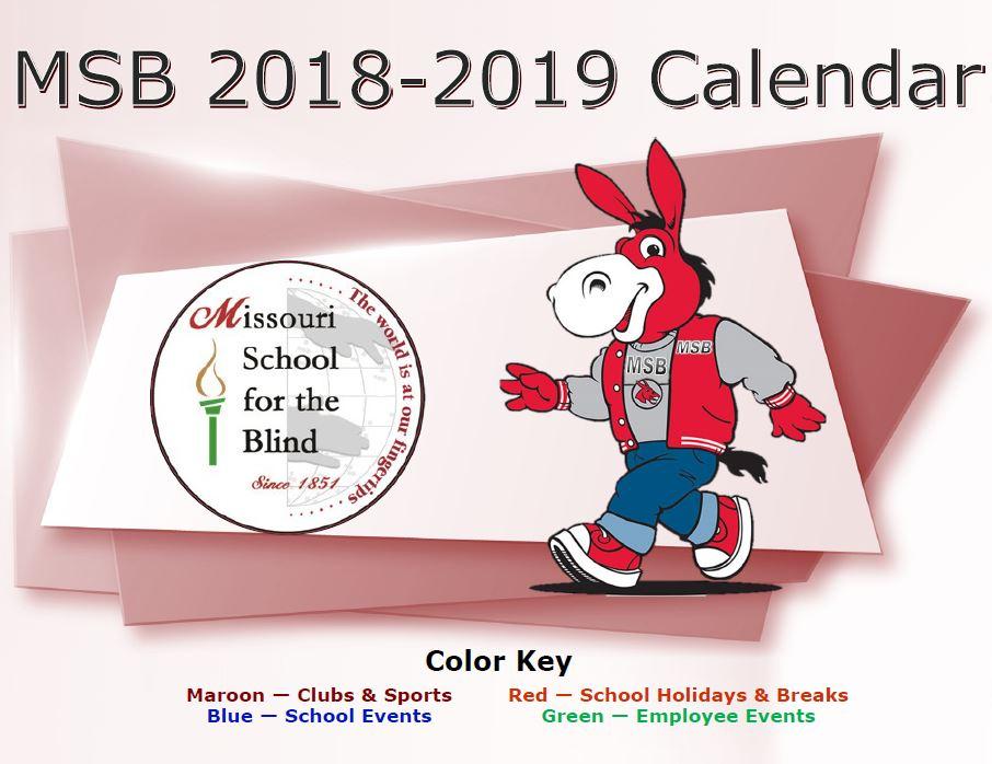 MSB 2018-2019 School Year Calendar