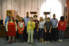 Group photo with MSB Beta Club and VFW members
