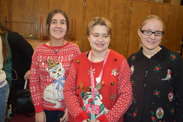 MSB students prepare backstage for their Christmas Extravaganza performance