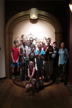 Accessibel Travel students at National jazz Museum