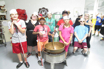 Accessible Travel students at Chocolate Chocolate Chocolate candy factory