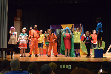Broadway students perform a muscial play