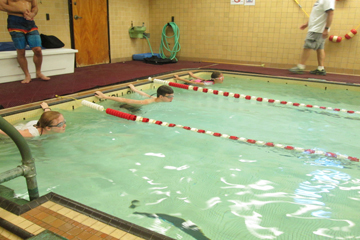 Camp Abilities students in swim lessons