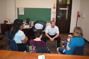 College and Career students speak with Tony Selvaggio