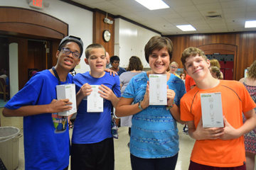 STEM Invention Challenge winners and their 3D pen prizes